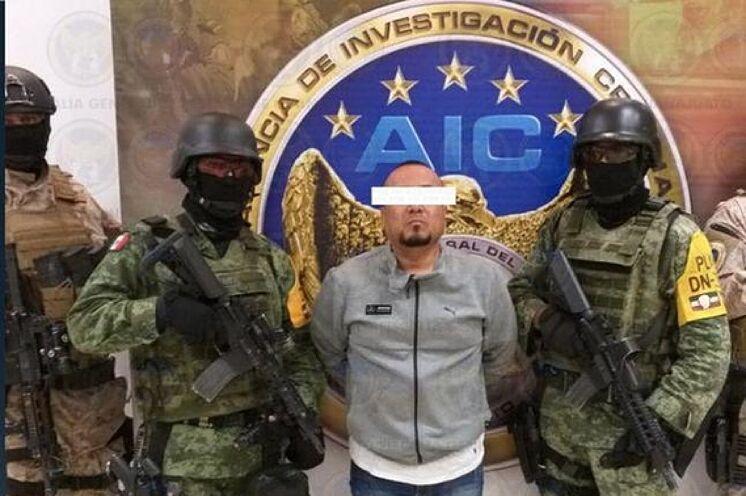 """José Antonio Yépez, alias """"El Marro"""", luego de ser detenido en el estado de Guanajuato, en el centro de México, por fuerzas federales y estatales."""
